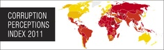Corruption Perceptions Index 2011 by Transparency International
