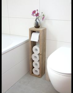 Toilettenpapierhalter, Klopapierhalter – Klopapierhalter – Badezimmer – Mit Lieb… Toilet Paper Holder, Toilet Paper Holder – Toilet Paper Holder – Bathroom – Handmade with Love in Hatten, Germany by Klaus Heilmann Toilet Paper Stand, Wood Toilet Paper Holder, Toilet Brush, Toilet Roll Holder Storage, Toilet Paper Dispenser, Diy Casa, Diy Home Decor On A Budget, Diy Ideas For Home, Diy Home Décor