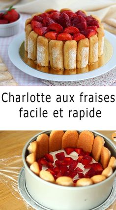 Tart Recipes, Dessert Recipes, Charlotte Dessert, Look And Cook, Sweet Pastries, Nutella, Cheesecake, Food And Drink, Favorite Recipes