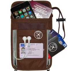 Landing Gear Passport Holder Neck Pouch RFID Blocking 1 Travel NEw Free Shipping #LandingGear