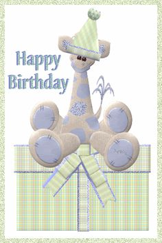 Animated Gif by raychen-rodriguez Birthday Greeting Cards, Birthday Greetings, Birthday Wishes, Happy Birthday, Birthday Images, Birthday Gifs, Photos For Facebook, Glitter Cards, Animated Gif