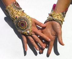 Check out our tribal gloves selection for the very best in unique or custom, handmade pieces from our shops. Hand Henna, Hand Tattoos, Mittens, Bracelet, Etsy, Ring Finger, Hands, Nu Skin, Arm Warmers