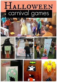 Having a Halloween party for the little ones and need some fun ideas on how to entertain them? Here are some fun Halloween Carnival Games! Halloween Carnival Games, Fröhliches Halloween, Halloween Karneval, Halloween Birthday, Holidays Halloween, Toddler Halloween Games, Carnival Ideas, Halloween Party Activities, Halloween Kid Party Games