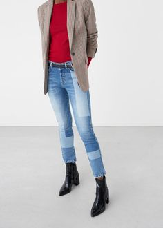 Straight words jeans - Jeans for Women | MANGO USA