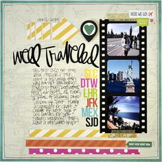 Well Traveled - Scrapbook.com - Made with Simple Stories DIY collection and SNAP Travel line