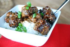 You know that happy dance when you find a meal that everyone will eat? I did that yesterday! It is so incredibly rare for me to find something that pleases everyone, especially my youngest two. But this simple meatballs 'n rice dish fit the bill and it's actually pretty healthy too. The teriyaki glaze is what makes this dish. It's nice and thick and there's plenty of it, so it can soak into the rice and flavor the whole thing. The dish comes together fairly quickly once you ge...