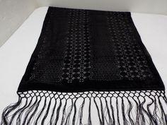 "Pretty Black Shawl Wrap Scarf 62"" Intricate Design PURCHASE AT shoppingwithgigi Ebay Store."