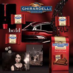 Ghirardelli® Dark 60% Cacao Squares®: The delicious everyday reward.