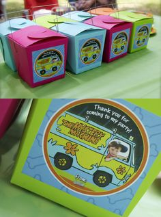 Scooby Doo Chinese Take-Out Treat boxes. Perfect size for Scooby Snacks and other Scooby party favors.