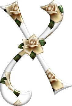 Cute Alphabet, Alphabet And Numbers, Letter Art, Letters, Ivory Roses, Rose Buds, Bunt, Initials, Projects To Try