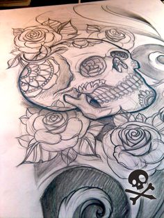 #vagabondco #Tattoos #Tattoo #ink #sugarskull