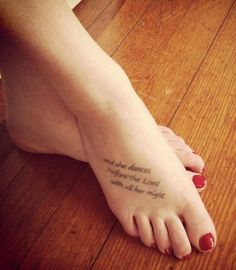 Dance tattoo
