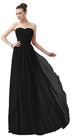 MaliaDress Women Sweetheart Evening Bridesmaid Dress Prom Gown M003LF Black US24W >>> Click image for more details-affiliate link. #SweatersForWomen