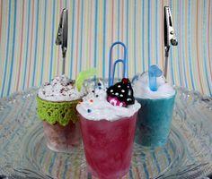 Sweet Treats Iced Coffee Photo Clip Memo Clip Name by StudioKawaii