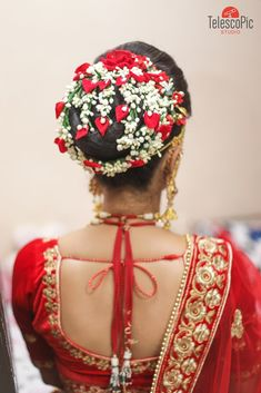 "Photo from Telescopic Studio ""Portfolio"" album Indian Hairstyles, Bun Hairstyles, Hairstyle Wedding, Photographic Studio, Wedding Preparation, Wedding Photoshoot, Saree Wedding, Mehendi, Brides"
