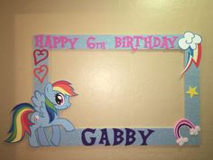 Rainbow Dash My Little Pony Photo Booth Frame to Take Pictures Birthday | eBay