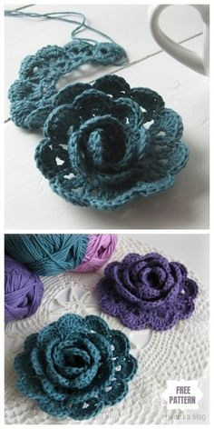 Crochet flowers 778137641847687220 - Easy Crochet Lace Rose Flower Free Crochet Patterns Source by cocopommette Free Crochet Rose Pattern, Minion Crochet Patterns, Crochet Applique Patterns Free, Crochet Flower Hat, Crochet Flower Tutorial, Crochet Motif, Crochet Lace, Crochet Roses, Simple Crochet