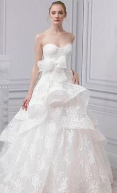 Belle by Monique Lhuillier. Save 63% at @PreOwndWedDress  #wedding #dress #lave #bride