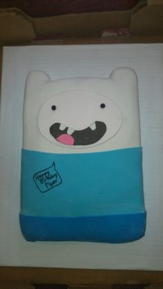 Finn from Adventure Time cake.