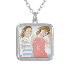 Instagram Photo Square Image Necklace #colorbindery #zazzle #customizable #giftideas