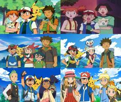 Ash Ketchum and Pikachu with all of their friends ^.^ ♡ I give good credit to whoever made this