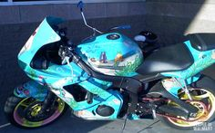 """Sponge Bob Motorcycle: Too bad the owner of this vessel can't drive it to their """"Pineapple under the sea"""""""