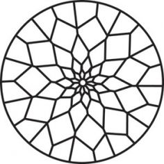 Free Printable Mandala Coloring Pages. Mandala for painting Make your world more colorful with free printable coloring pages from italks. Our free coloring pages for adults and kids. Free Mosaic Patterns, Stained Glass Patterns Free, Stained Glass Projects, Mandala Pattern, Stained Glass Art, Stained Glass Windows, Mandala Design, Pattern Art, Geometric Mandala