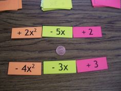 Math = Love: Adding and Subtracting Polynomials Activity.  I tried a similar activity with my co-taught algebra I class and it made all the difference in the world for them!