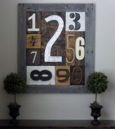 Instructions for making number sampler wall art.