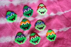 TMNT Ninja Turtles hama mini beads by Hel Ce Ene