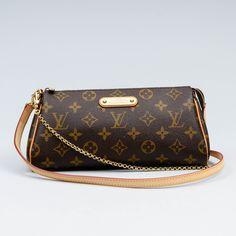 LOUIS VUITTON, käsilaukku, Eva Clutch, k 13 cm, p 23 cm. Louis Vuitton Monogram, Pattern, Bags, Design, Handbags, Patterns, Model, Bag