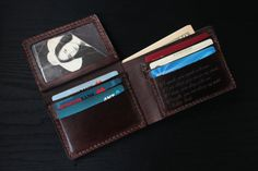 Men's Leather wallet Men's Wallet Leather Wallet by lotussilk