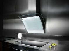 Wall-mounted glass and steel cooker hood ADELANTE by GUTMANN