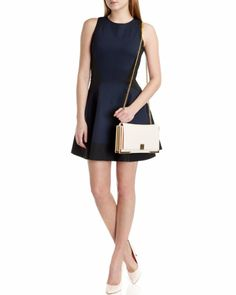 Contrast side dress - Navy | New Season | Ted Baker ROW