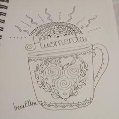 #Iepiirustus #drawing #piirustus #aurinko #kahvimuki