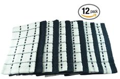 12 Kitchen Towels by Utopia Towels, Size 15 x 25 Inches, 100% cotton - Black and White - http://www.kitchendiningstuff.com/12-kitchen-towels-by-utopia-towels-size-15-x-25-inches-100-cotton-black-and-white/