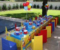 Monkey Magic Functions - Whatever the occassion, we make wishes come true! Crayon Birthday Parties, 1st Boy Birthday, Birthday Party Themes, Themed Parties, Birthday Ideas, Noddy Cake, Paw Patrol Party Decorations, Detective Party, First Birthday Photography