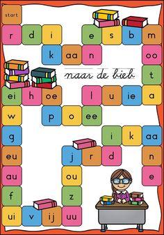 Spellenpakket letters en lezen Spelling For Kids, Scandal Abc, First Grade, Grade 1, Teaching, Activities, Logos, School, Creative