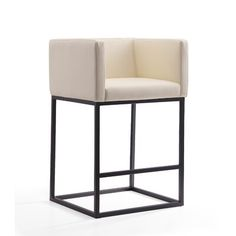 A tubular black steel frame gives our postmodern stool a machine-age reference. Its slender legs support a cushioned, tailored seat for a crisp and geometric silhouette. Metal Bar Stools, Modern Bar Stools, Bar Counter, Counter Stools, Foot Rest, All Modern, Modern Contemporary, Chair Design, Decor Styles