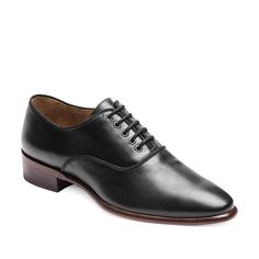 Black leather Oxford boots corsocomo #tomboy collection, black, classic, fashion, style