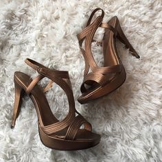 ‼️Bronze DVF Gladiator Heels‼️ ⚡️10K Follower Sale!⚡️These heels are a beautiful bronze color. They're in almost brand new condition. Size 8.5 Diane von Furstenberg Shoes
