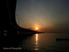 Scene of Tranquility: Bridge Sunrise