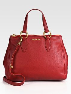 Nothing like a red purse to lift your spirits!  Miu Miu