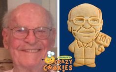 100th Birthday Party - Dad's Birthday Party - Custom Cookies - Party Favors - Surprises