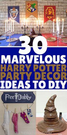 Harry Potter Adult Party, Harry Potter Party Supplies, Harry Potter Halloween Party, Harry Potter Baby Shower, Harry Potter Christmas, Theme Halloween, Harry Potter Birthday, Halloween Snacks, Diy Halloween