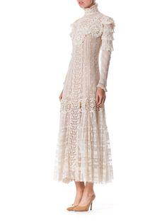 Late Victorian Lace Tea Dress