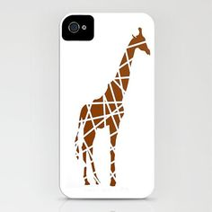 20% SALE Giraffe print on iPhone Case - (4S, 4, 5, 5S) brown color iphone cases unique iPhone 5 , Christmas,  Samsung Galaxy