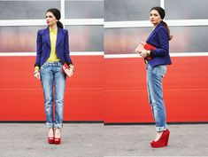 Blue,yellow and red  BY ANNI *., 22 YEAR OLD BLOGGER @FASHIONHIPPIELOVES.COM FROM STUTTGART / GERMANY