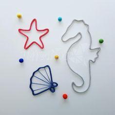 Crochet Stars, Knit Crochet, Deco Marine, 3d Pen, Wire Crafts, Infant Activities, Wire Art, Celtic, Beaded Jewelry