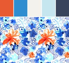 Margaret Berg   Blue Orange Floral Designed By Lisa Perrone   Stylyze Creative Director via Stylyze